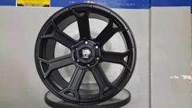 Velg murah black mamba ring20x9.0 h6x139.7 et12 on pajero fortuner