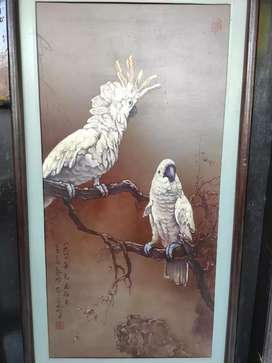 Lukisan Burung Kakatua