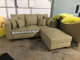 PO sofa L dobel sandaran dakron
