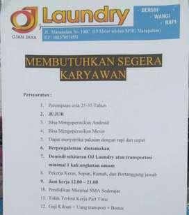 Lowongan Kerja Karyawan Laundry