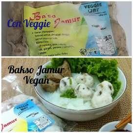 Bakso jamur vegan