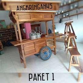 ONGKIR GRATIS, Gerobak/Rombong Angkringan, Bayat, TERKUAT A0277