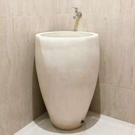 Bak mandi minimalis bentuk vas d50cm terrazzo