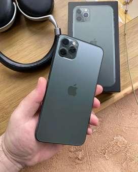 Iphone 11 Pro Max 64 GB Midnight green . Lengkap Mulus Istimewa