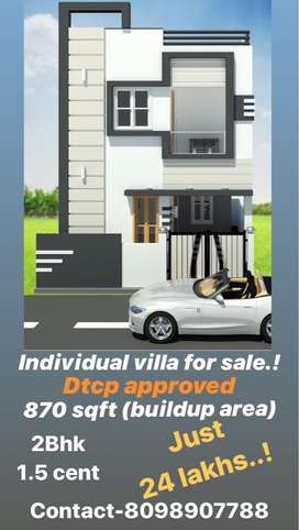 Individual villa for sale at thomdamuthur !!