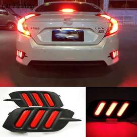 Honda Civic Mustang Style Back Bumper Reflector Lights