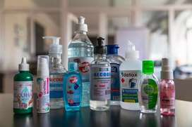 All types of sanitizers are available in whole sale price