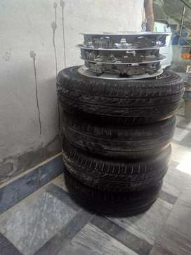 14 inch 4 hole rims and tyres