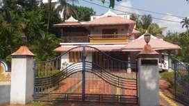 30 cent land with 2600 sqft house at kanjoor,near airport,aluva,kalady