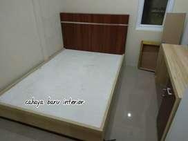 dipan minimalis, single bed custom
