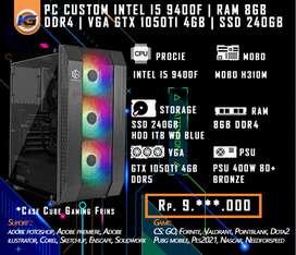 PC Rakitan For Medium Gaming Desain I5 9400F