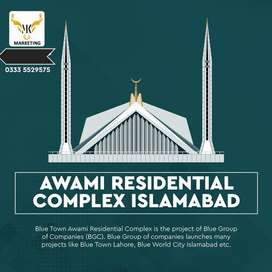 Blue world city Awami Complex Appartment On Installment - Islamabad