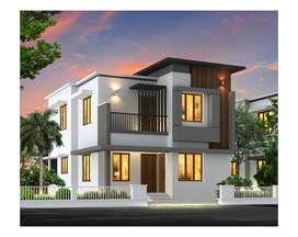 modern style new 3bhk villas poovangal