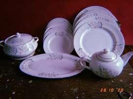 Bone china New  luxurious dining set