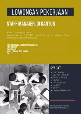 Lowongan pekerjaan staff manager
