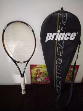 Prince tennis racket with cover