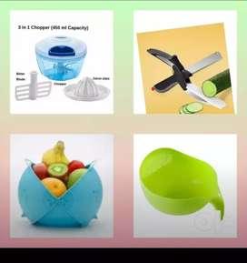 4 kitchen combo chopper&clever cutter&fruit basket&rice bowl