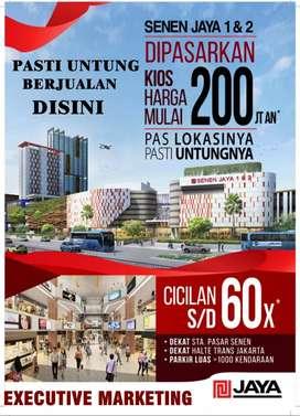 Kios / Ruko Baru untuk Investasi & Jualan Di pasar Senen Blok 1 - 2