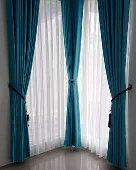 Gorden Minimalis Korden Gordyn Wallpaper Blinds Vitrase.99vkek