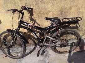Hercules ranger bicycle black coloured
