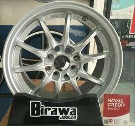 Velg Mobil HSR R15x6,5 H8x100-114,3 Silver Matt