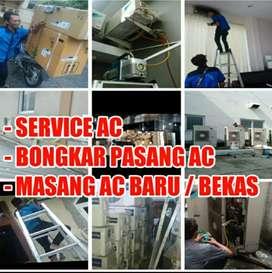Service Ac / Bongkar pasang Ac (Mesin cuci, kulkas, pompa air)