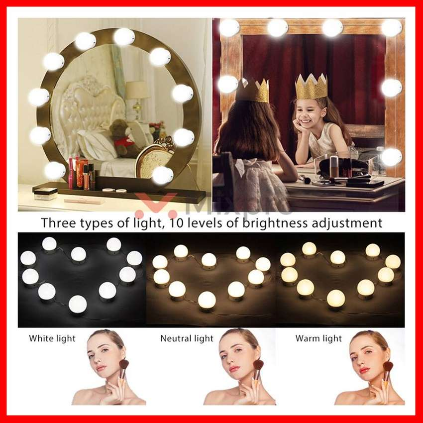mixpro 10 Bulbs Vanity Lights Makeup for Mirror Dressing Table