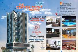 Luxury & Deluxe Apartments on 4 years installments