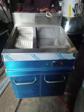Single tank double basket with sizzling automatic brand new