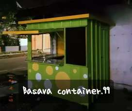 Booth container, booth usaha, booth jualan, booth makanan, booth