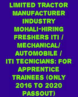Looking fresher 10 Diploma Mechanical DET, Apprentice/Trainees