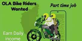 Ola Bike Riders wanted. If you have a bike Join OLA today.