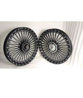 Bullet classic 350 alloy wheels with front disc