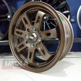 Velg mobil racing murah ring 15 HSR wheel vios baut 4 Bronze murah