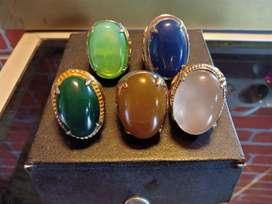 Jual cepat koleksi Cincin batu akik