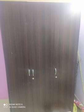 Wood 3-Door Wardrobe