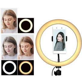 Taffstudio lampu halo ring light LED selfie 128LED 20cm