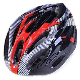 TaffSPORT Helm Sepeda Seli Mtb EPS Foam PVC Shell Warna Merah