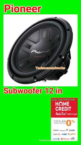 subwoofer pioneer 12 inci TSW 311D sub bass paket sound audio mobil