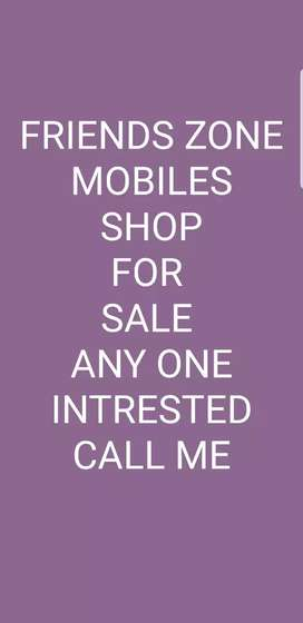 Mobile shop for sale  call me for more information
