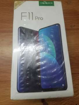 oppo F11pro open box mobile with 11 month service center warranty !