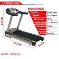 treadmill manual 6 fungsi TL-004 ABC-18 treadmil fitnes