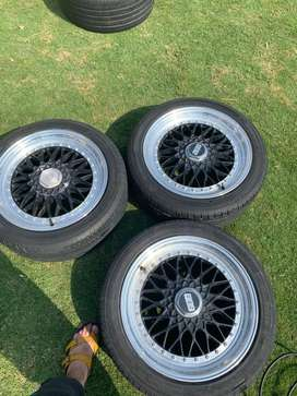 Tyres along with rims