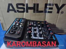 MIXER ASHLEY MINI 4 Channel   Bluetoth,USB,Record !!!