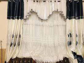 Beautiful white turkish style curtain parday parda