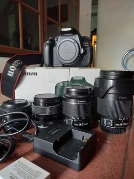 Kamera Canon 600D + Lensa Komplit