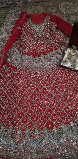 Bridal lengha one time used ready at order