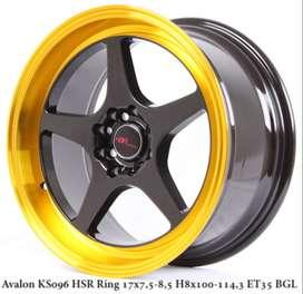 new AVALON KS096 HSR R17X75/85 H8X100-114,3 ET35 BK/GOLDL