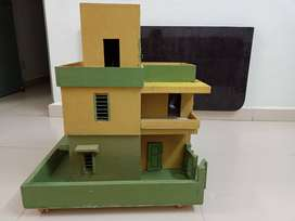 Hand made wooden house for kids