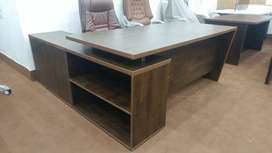Executive office table with wooden grains